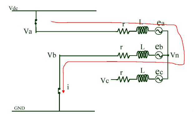 Neutral voltage of PWM ON interval